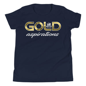 Youth Boys and Girls Gold Aspirations Short Sleeve T-Shirt