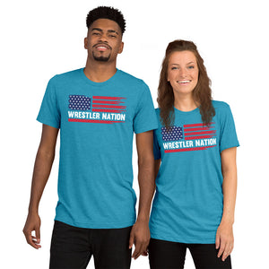 Tri-Blend Wrestler Nation Short Sleeve T-shirt