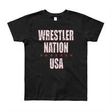 Load image into Gallery viewer, Youth Boys and Girls Short Sleeve Wrestler Nation T-Shirt