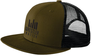 Olive Wrestling Trucker Hat