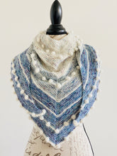 Load image into Gallery viewer, Blue Ombré Wrap Adorned with Bobbles