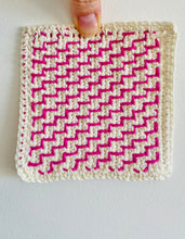 Load image into Gallery viewer, Stair Steps - An Embroidery on Crochet Motif