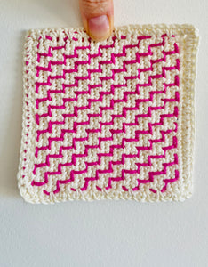 Stair Steps - An Embroidery on Crochet Motif