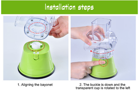 Powerful Vegetable Cutter - Manual Operation