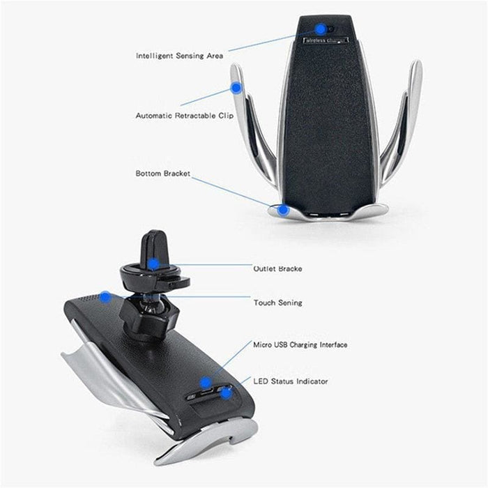 Powerful Wireless Car Charger - Automatic Clamping.