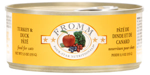 Fromm Four-Star Cat Food Turkey & Duck Pâté 5.5oz Can