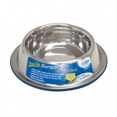 Durapet Non-Tip Stainless Steel Bowl - SM (2 cups)
