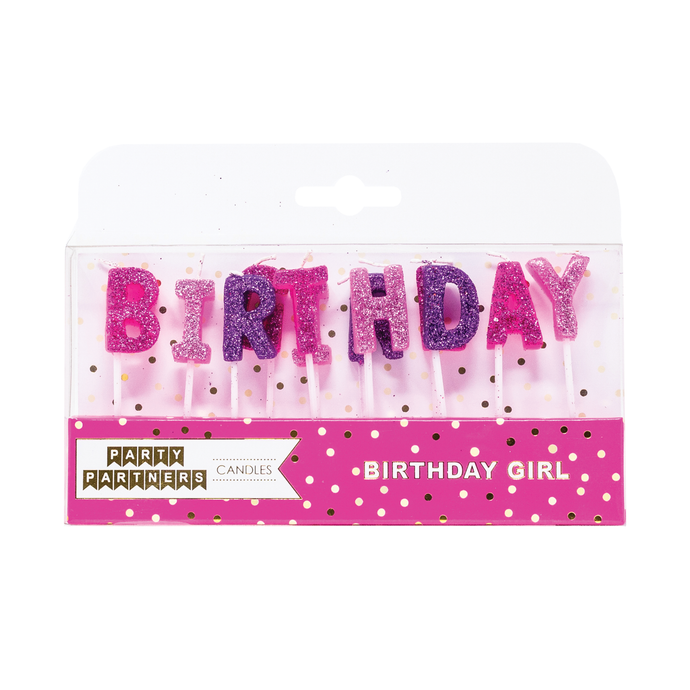 Party Planners Birthday Girl Candle Set