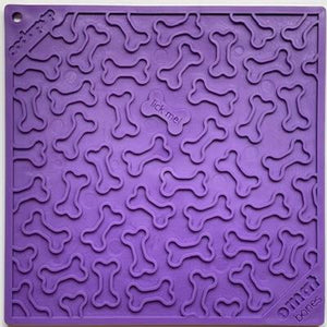 SodaPup Bones Design Emat Enrichment Licking Mat - Purple