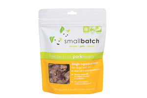 SmallBatch Freeze-Dried Pork Hearts Treats 3.5oz Bag