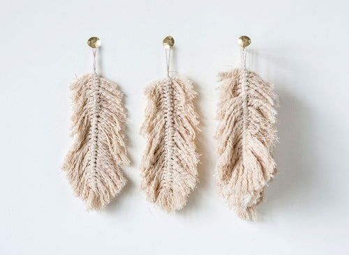 Knotted Hanging Feather