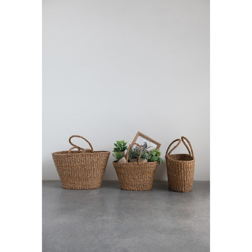 Simple Seagrass Basket, M