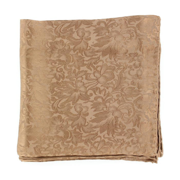 Brown Jacquard 100% Silk Wild Rag - 0904003