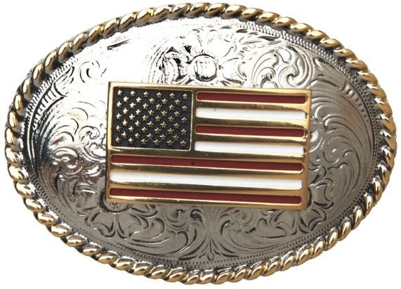 AndWest Kids American Flag Buckle - 204
