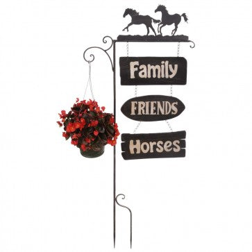 Garden Stake Horses with Plant Hanger   27-99811