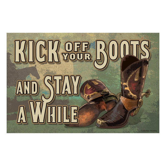Kick Off Your Boots Rubber Mat - 2733