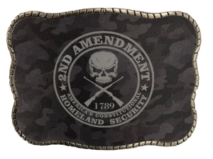 Wallet Buckle 2nd Amendment Camo