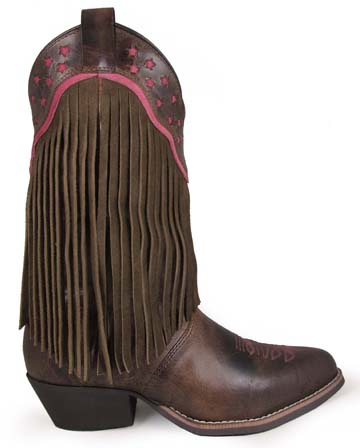 Smoky Mountain Helena Fringe Boots - 3568
