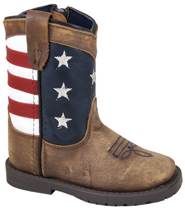 Smokey Mountain Stars and Stripes Infant Boots - 3800T