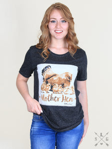 Southern Grace Mother Hen Patch Tee - 4384B