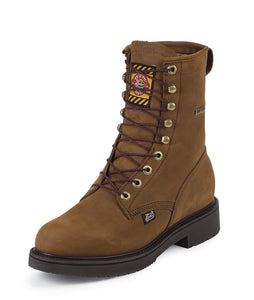 Justin Transcontinental Brown Waterproof Lacer - 604