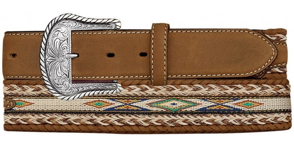 Tony Lama Badlands Horse Hair Belt - 7289L