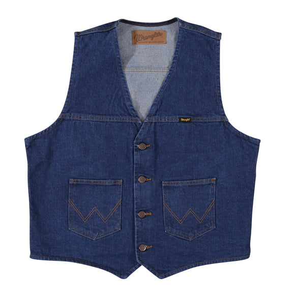 Wrangler Unlined Denim Vest - 74130PW