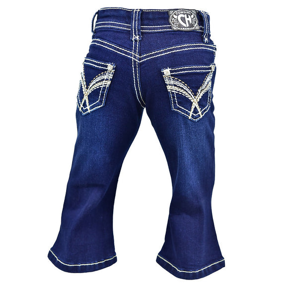 Cowgirl Hardware Infant/Toddler Tangle V Jeans    802065-810