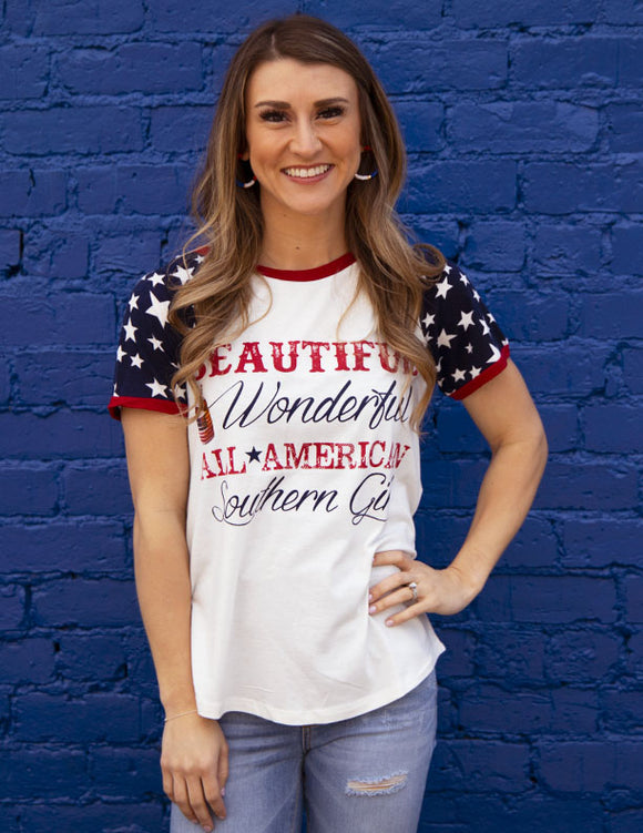 Wanderer All American Southern Girl Tee - 8116