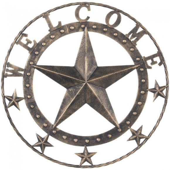 Metal Welcome Star    87-1392-250