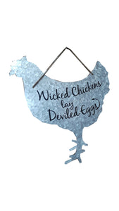 Metal Chicken Sign    87-1644-0-983