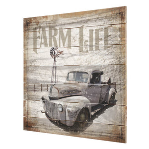 Farm Life Truck Pallet Wall Decor - 87217