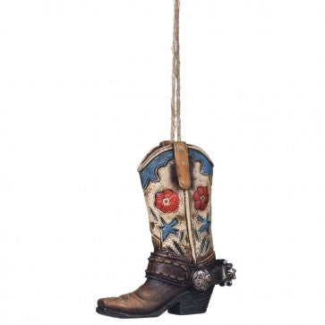Floral Boot Ornament  91-1058