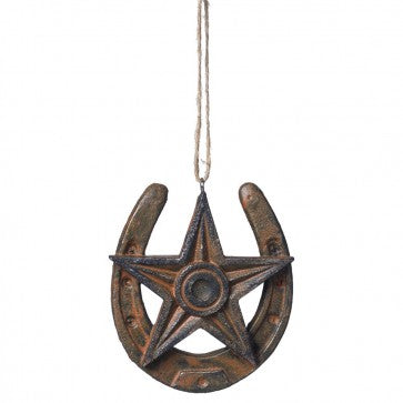 Horseshoe Star Ornament   91-1098
