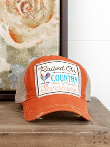 Southern Junkie Raised On Country Sunshine Cap - 93381ORG-ROCS