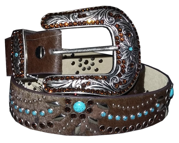 Genuine Leather & Horsehair Belt - 967