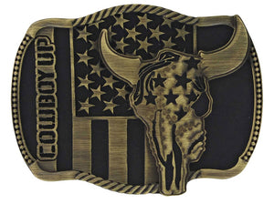Attitude Cowboy Up Heritage Buckle - A713C