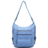 Baby Blue Convertible Backpack - B334