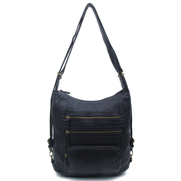 Black Convertible Backpack - B334