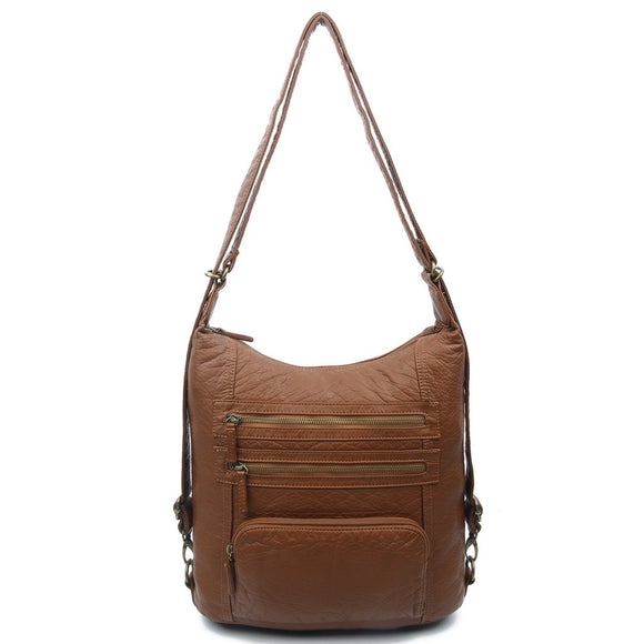 Brown Convertible Backpack - B334