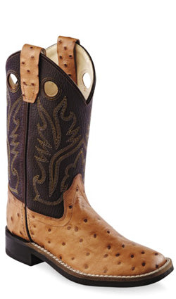 Old West Ostrich Print Boots - BSC1879