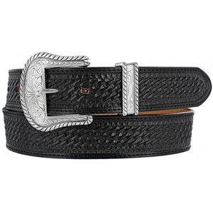 Bronco Black Leather Belt - C12263