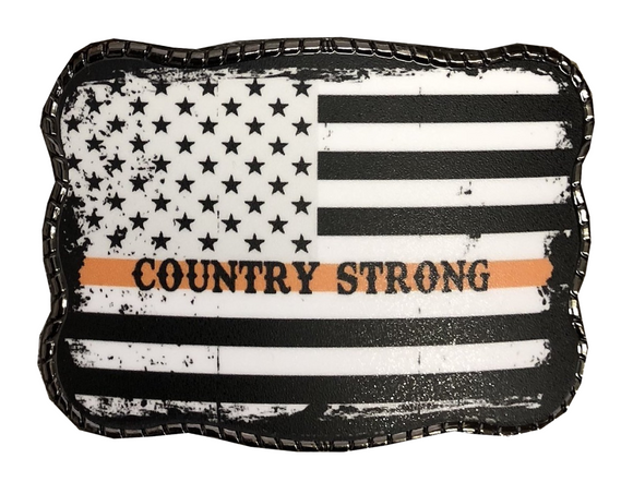 Wallet Buckle Country Strong Flag