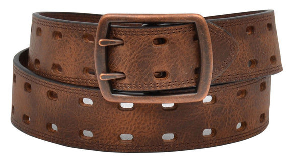 Casual Leather Brown Belt - D7532