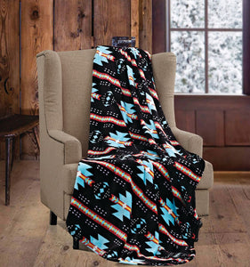 "Regal Comfort® Phyllis Dobbs™ Native ""Black/Turquoise"" Licensed Cashmere"