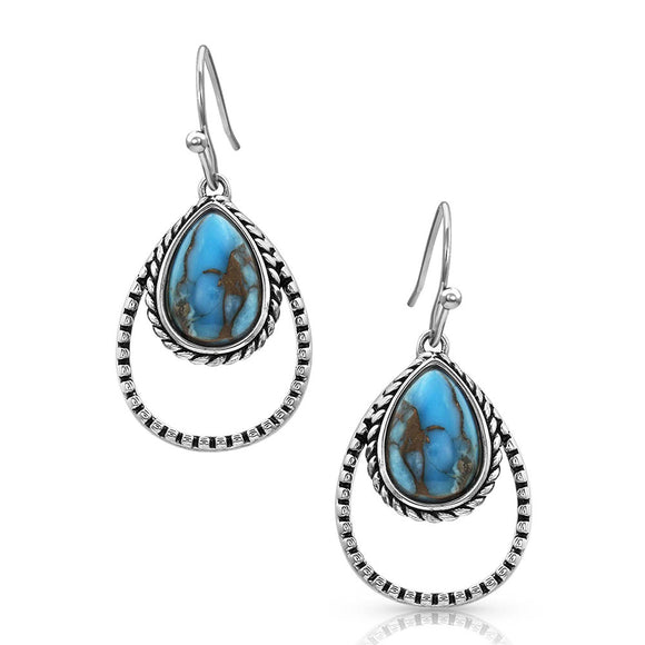 Montana Silversmiths Double Rope Turquoise Earrings - ER4376TQ