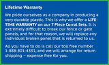 Big Country Toys 7 Piece Corral Warranty