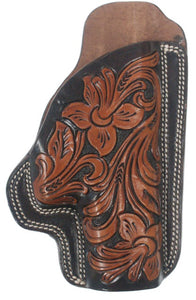 Floral Tooled Leather Holster