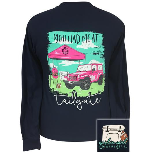 Girlie Girl Original Youth Jeep Tailgate Longsleeve Tee