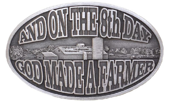 On the 8th Day Farmer Buckle - JD091